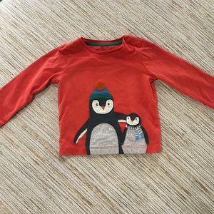 Baby Borden Penguin Appliqué Long Sleeve Tee